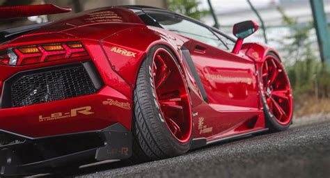 lamborghini aventador sv roadster red liberty walk lamborghini aventador roadster sees red everywhere