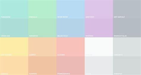 colores pastel the evolution of flat design muted colors design shack