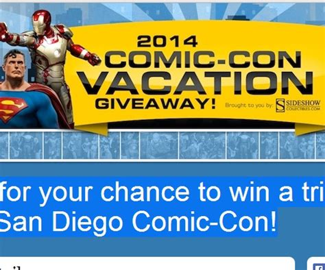 San Diego Comic Con Sweepstakes - win a trip to comic con 2014 in san diego california sweeps maniac