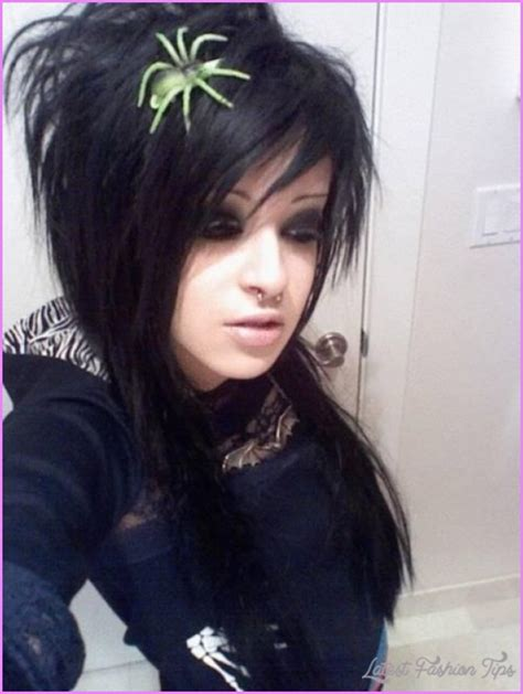emo hairstyles no bangs emo long haircuts with side bangs latestfashiontips com