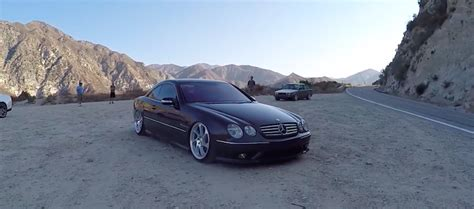 bagged mercedes amg ridin low in a bagged mercedes cl55 amg mbworld