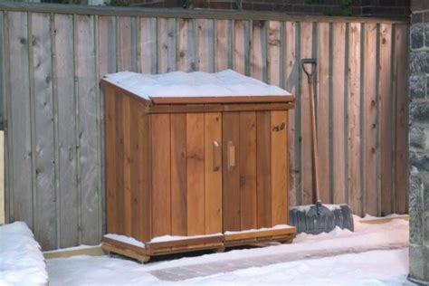Outdoor Garbage Shed by Garbage Storage Shed Plans Dame Outdoor