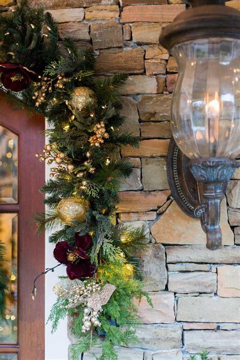 hang garland  christmas door hangings
