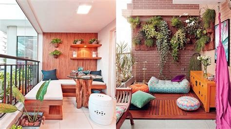decorate  small balcony home improvement  ideas