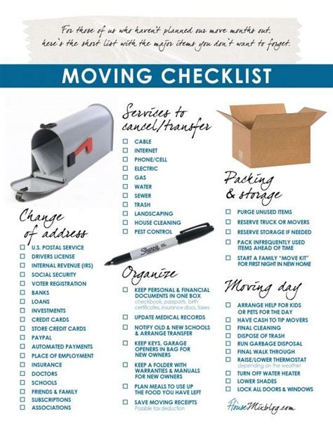 printable moving to do list moving part 2 change of address services to stop
