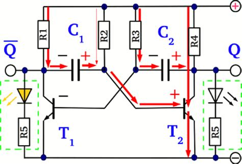 voltage across capacitor in astable multivibrator multivibrator homofaciens