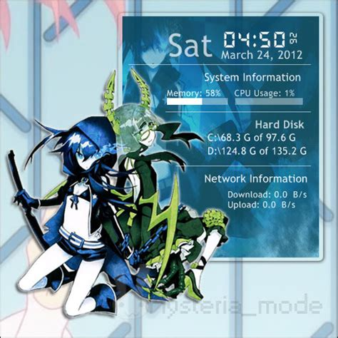 black rock shooter rainmeter skin rainmeter brs x dead master by milkkybunny on deviantart