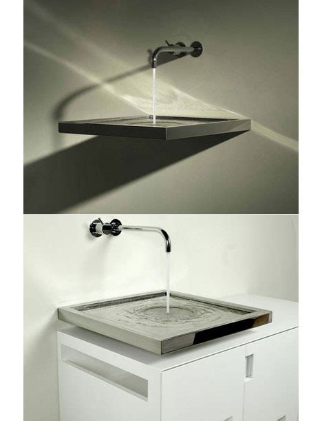 luxury bathroom sinks sinking sideways core77