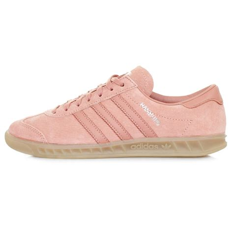 adidas originals hamburg suede sneakers in pink lyst