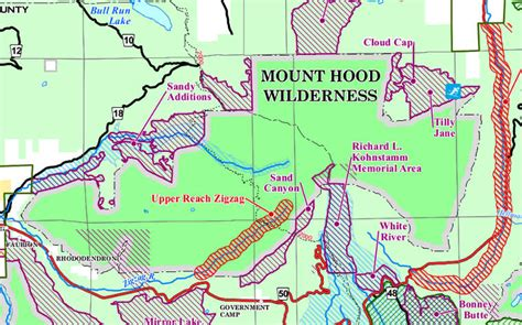map of oregon mt mount wilderness oregon national wilderness areas