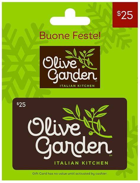 Olive Garden Gift Card Good At - 40 best gift cards for christmas 2017 unusual gifts