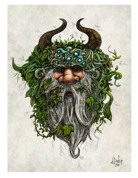 green man by daviddavies on deviantart