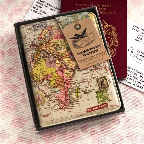 Passport Cover Map Edition world map passport cover unique gifts from gettingpersonal co uk