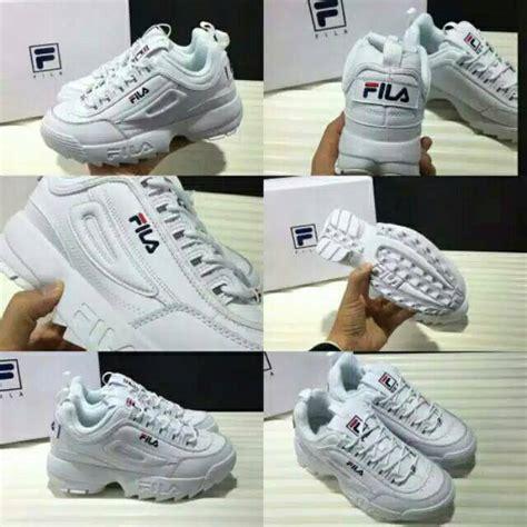 sepatu fila white ladies sneakers fashion cewek cewe sport