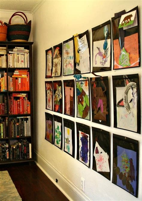 art display ideas store and display your child s art in style