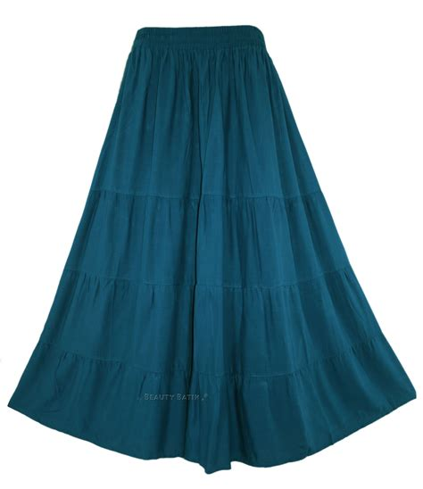 boho hippy maxi tiered skirt 18 20 1x 2x ebay
