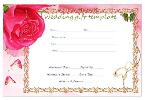funny gift certificate template