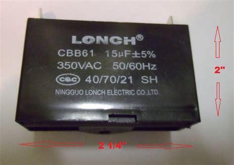 cbb61 sh generator capacitor generator capacitor cbb61 15uf 350vac