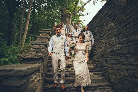 wedding locations in new york state and megan married taughnannock falls state park
