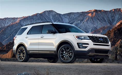 white ford explorer sport 2017 ford explorer white 200 interior and exterior images