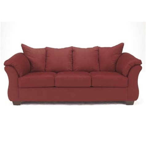 sleeper sofa free shipping ashley darcy fabric full size sleeper sofa in salsa 7500136
