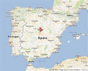 madrid spain on world map madrid on map of spain world easy guides