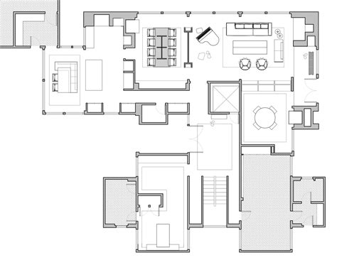 k residence floor plan gallery of louis kahn s korman residence interior