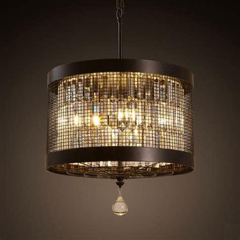 round dining room light fixture american iron round droplight led crystal pendant light