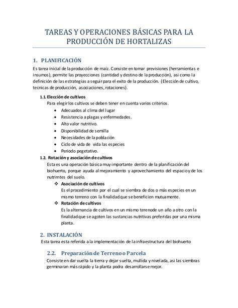 tareas basicas de publisher tareas y operaciones b 225 sicas de hortalizas
