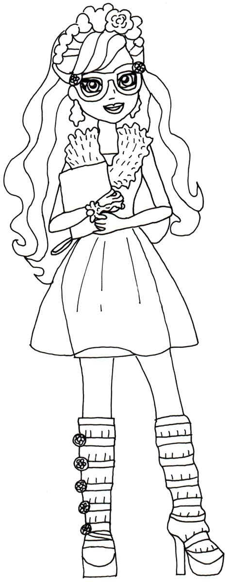 ever after high coloring pages poppy o hair free printable ever after high coloring pages rosabella