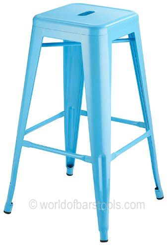 Cafe Style Bar Stools by Costantino High Cafe Style Bar Stool Duck Egg Blue
