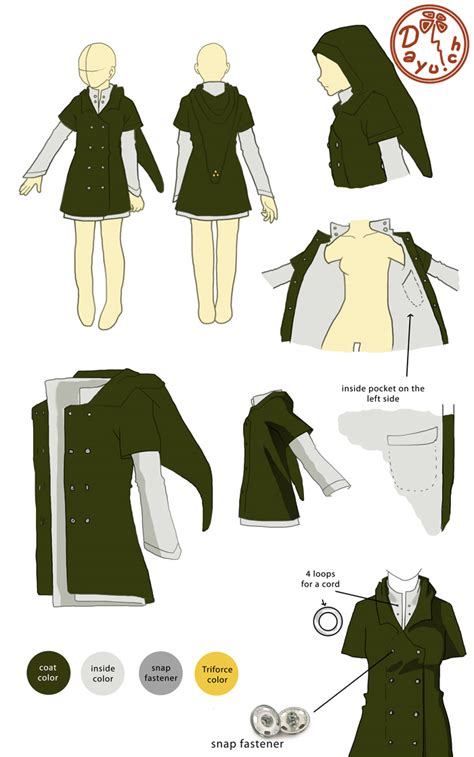 pattern link link coat by dayu on deviantart