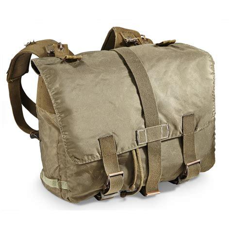 rucksack contents austrian surplus shoulder rucksack used