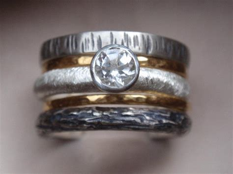 unique engagement ring wedding ring set of 5 stacking