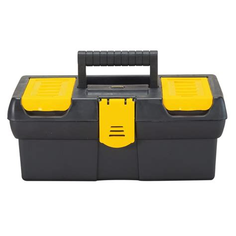 stanley 12 5 in tool box with tray stst13011 the home depot
