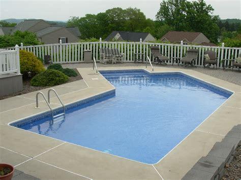lazy l pool small lazy l pool design mohnton pa aqua matic pools llc