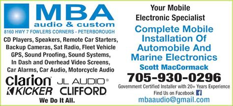 Clarion Mba Reviews by Mba Audio Custom Opening Hours 8160 Hwy 7