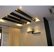 Plaster Ceiling With Wooden &amp Divider Design