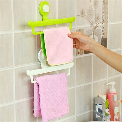 Creative Bathroom Towel Racks Creative Magic No Trace Sucker Bathroom Towel Hanging Rack