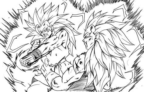goku ssj2 vs majin vegeta coloring pages coloring pages