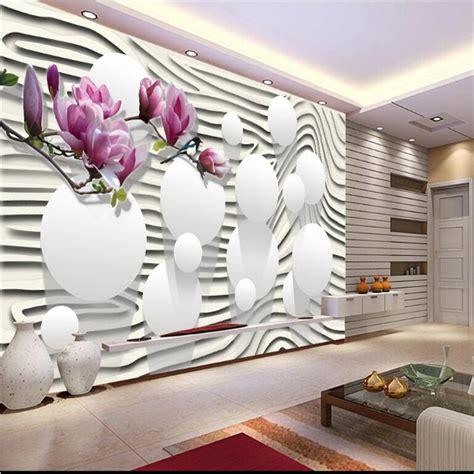 Wallsticker Purple Flower Bunga Ungu beibehang 3d kustom foto wallpaper stiker dinding mural