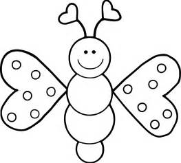 cartoon butterfly coloring wecoloringpage