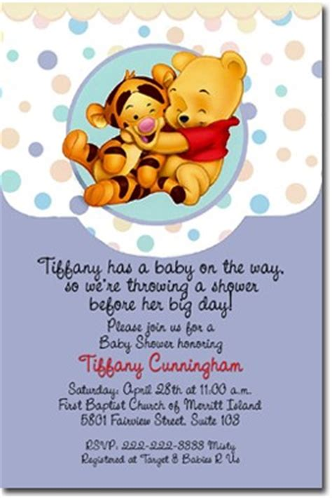 Winnie The Pooh Baby Shower Invitations by Baby Winnie The Pooh Baby Shower Invitations