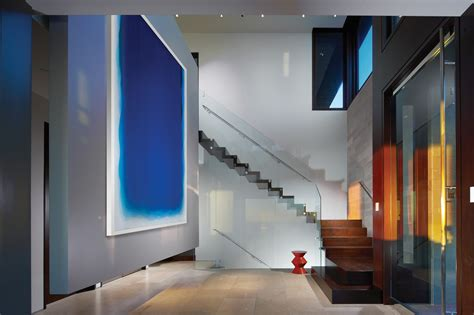 minimalist foyer design modern white nuance of the abstract painting hallway that
