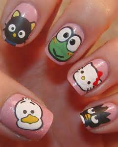 Simple hello kitty nail art designs stickers nail art for beginners 1