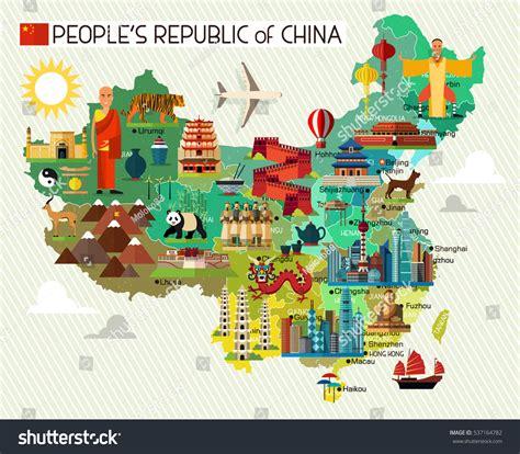 map china travel iconschina travel map 스톡 벡터 537164782