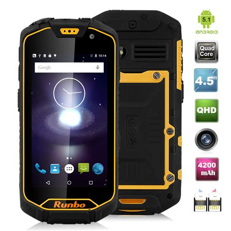 Runbo Q5 4g Ram 2gb Rom 16gb 13mp Lolipop Runbo H1 X6 F1 Xp7 runbo q5 4g lte smartphone android 5 1 ip67 waterproof 13mp nfctype c ebay