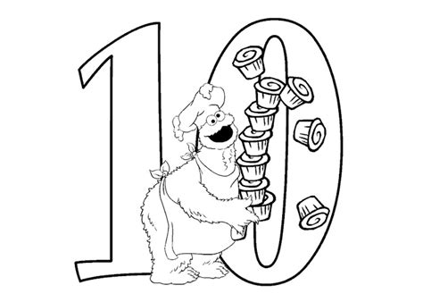 coloring pages of the number 10 number 10 coloring page
