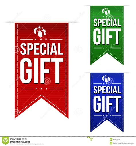 special gifts special gift banner design set stock vector image 42849834