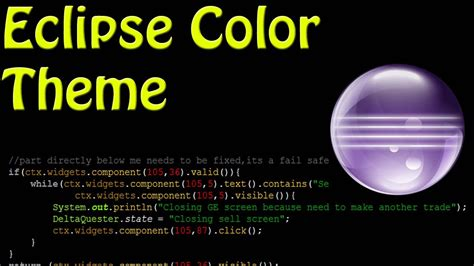 eclipse uninstall themes how to change color theme in eclipse youtube